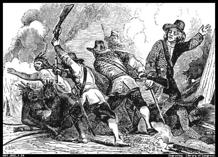 mystick-battle-pequotwar-bw-engraving