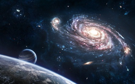 Cosmos-SpiralGalaxy-space
