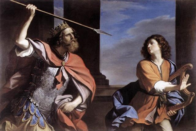 Image result for images of King Saul destroyed by God after envying david