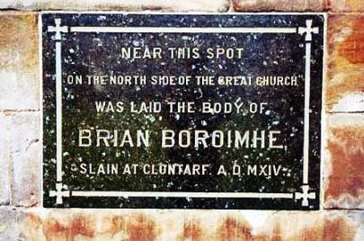 BrianBoru-Clontarf.memorial-marker