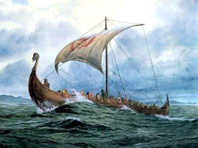 Viking-boat-at-sea