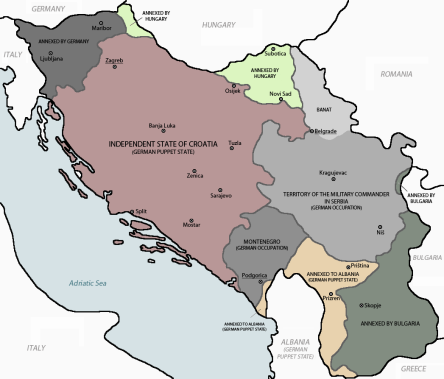 WWII-map.Croatia-from-Yugoslavia