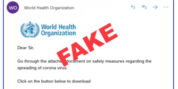 WHO-fake.pseudo-email-scam