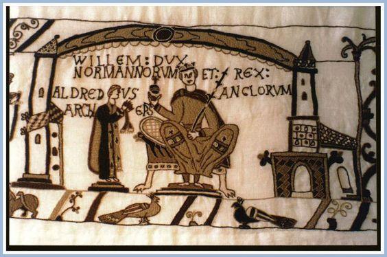 Bayeux-Tapestry-Wm-coronated-England.Xmas-AD1066